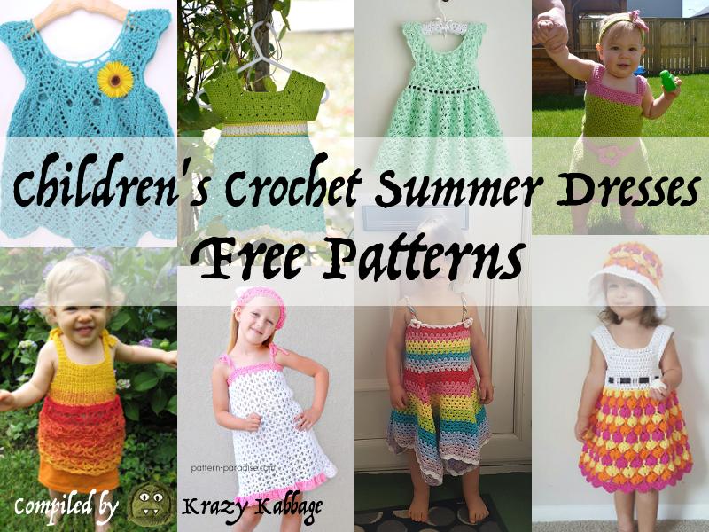 Children S Summer Dresses Free Patterns Krazy Kabbage