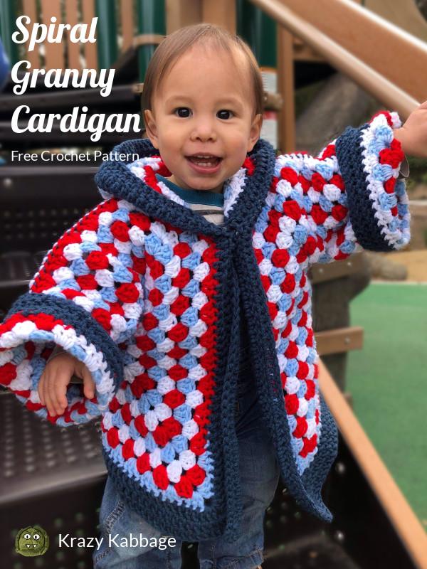 d553f837a362 Hexagon Granny Square Hooded Cardigan Free Crochet Pattern – Krazy ...
